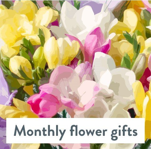 Luxe Hand Tied Monthly Flower Gift